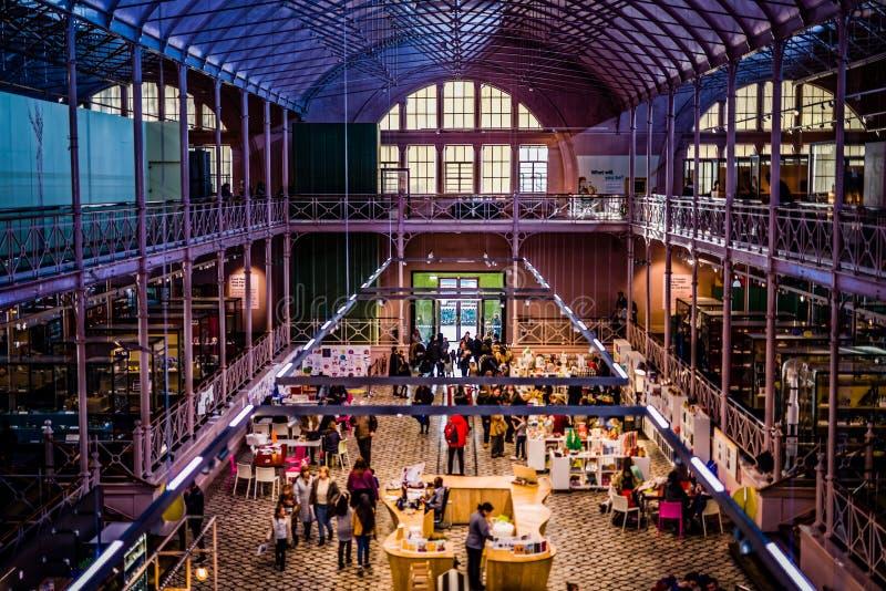 Salão principal no museu da infância fotos de stock royalty free