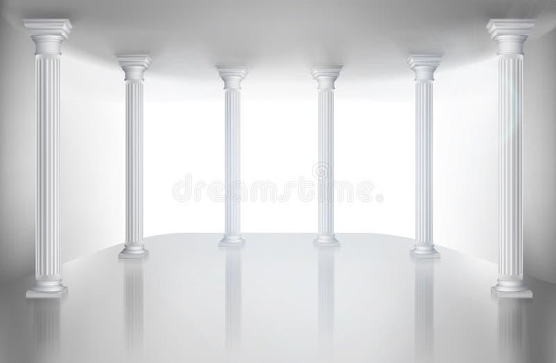 Salão vazio com coluna Ilustração do vetor ilustração do vetor