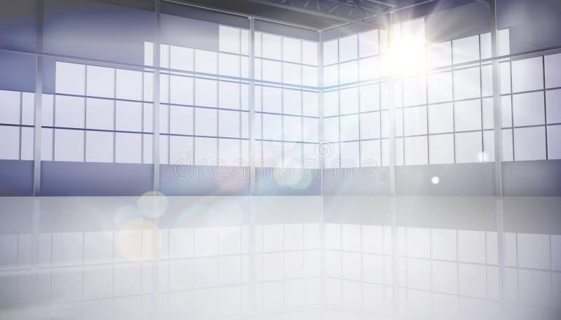 Salão vazio com grande janela Ilustração do vetor ilustração royalty free
