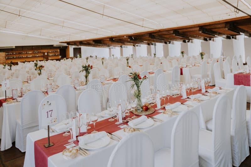 Salão vazio do casamento imagens de stock royalty free