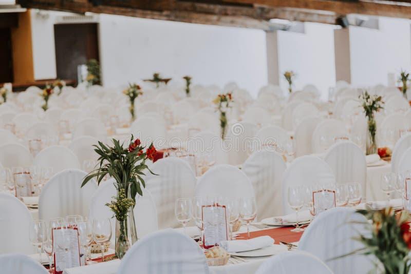 Salão vazio do casamento imagem de stock