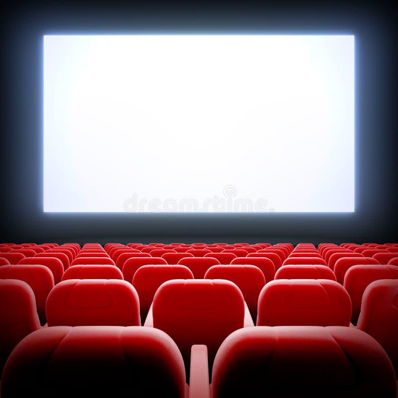 Salão vazio do cinema ilustração stock