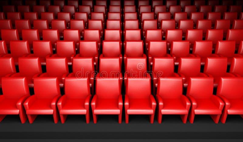 Salão vazio do cinema com auditório ilustração royalty free