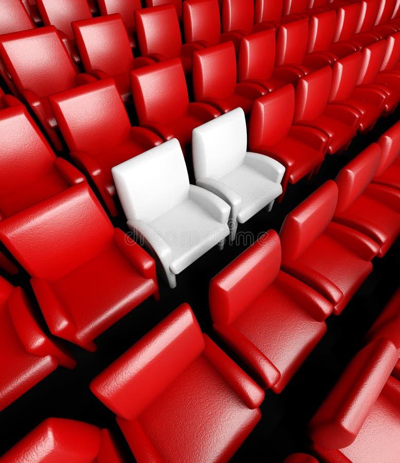 Salão vazio do cinema com auditório ilustração stock