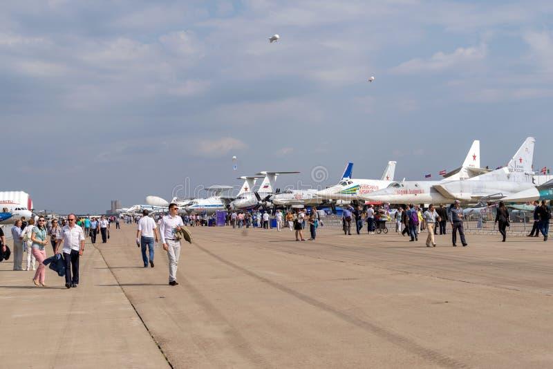 Salón aeroespacial internacional MAKS-2015 fotografía de archivo