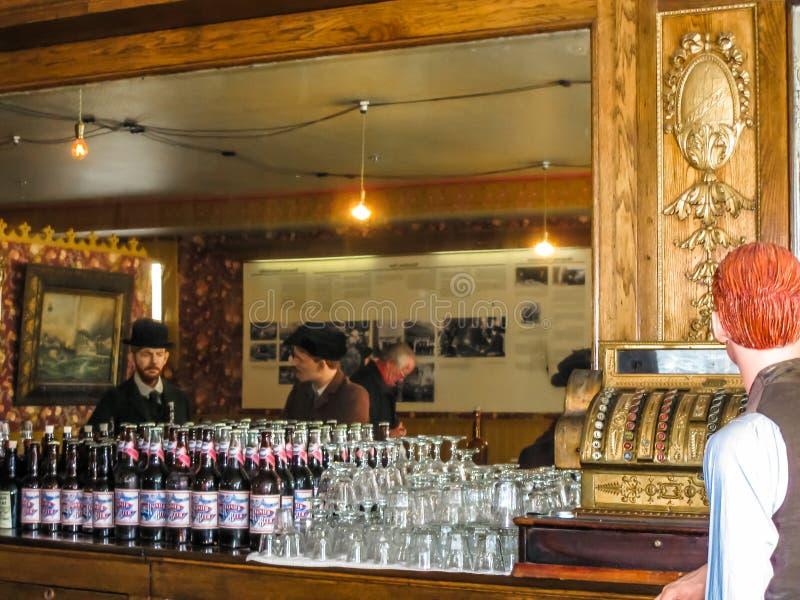 Salón con la cera, Alaska imagenes de archivo