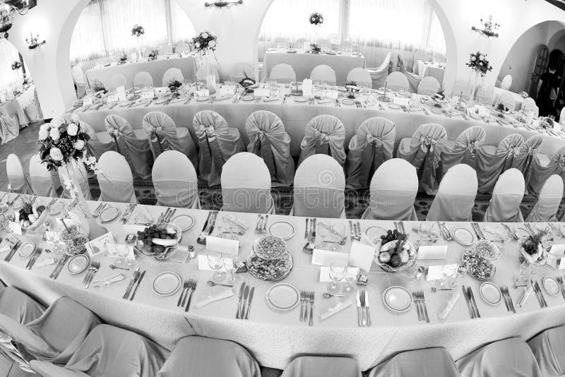 Salón de baile de la boda imagen de archivo libre de regalías