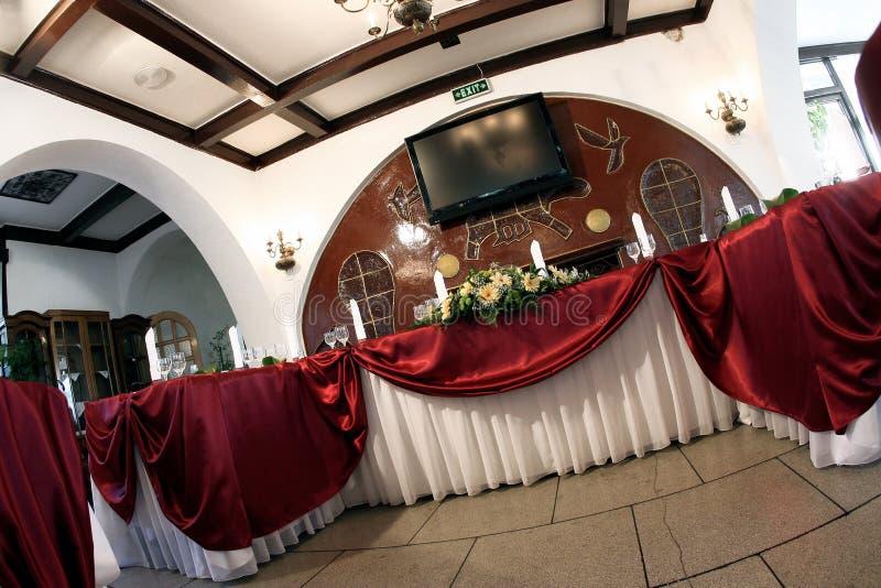 Salón de baile de la boda imagenes de archivo