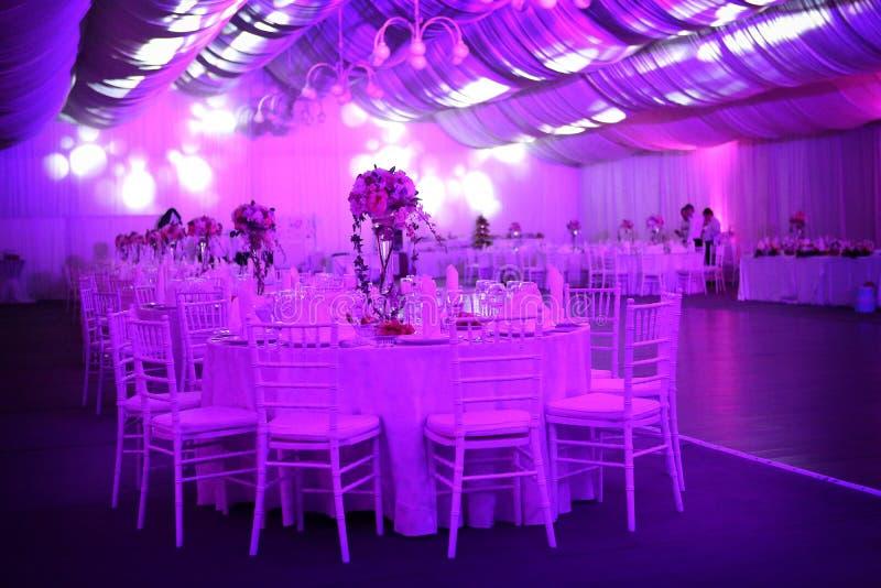 Salón de baile de la boda, color azul foto de archivo libre de regalías