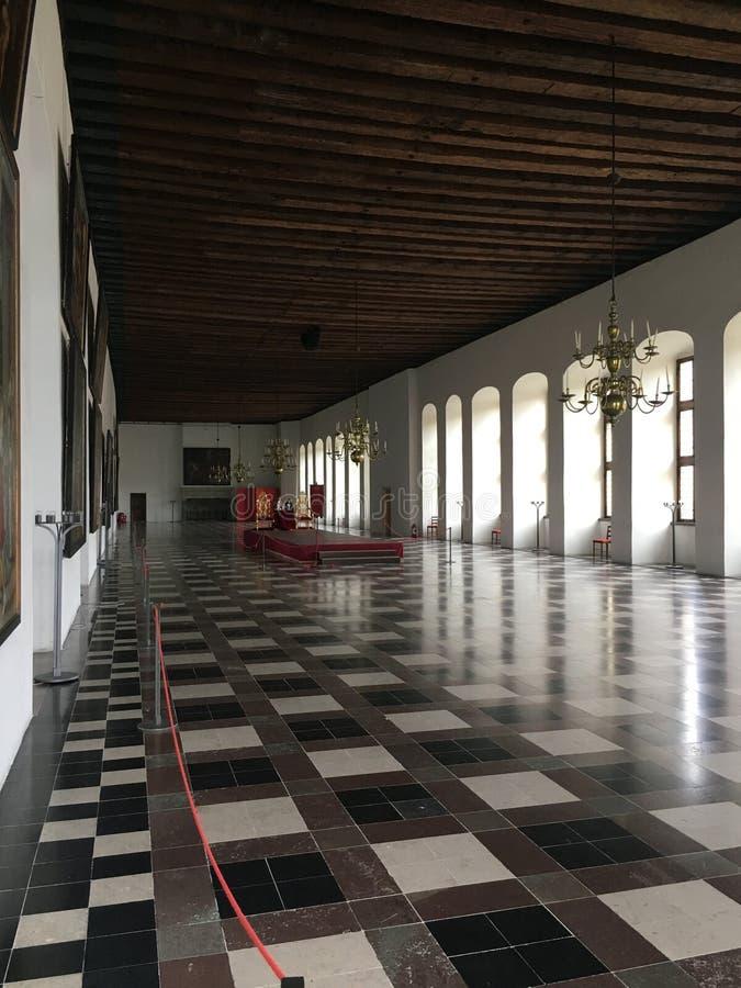 Salón de baile del castillo de Kronborg fotografía de archivo libre de regalías