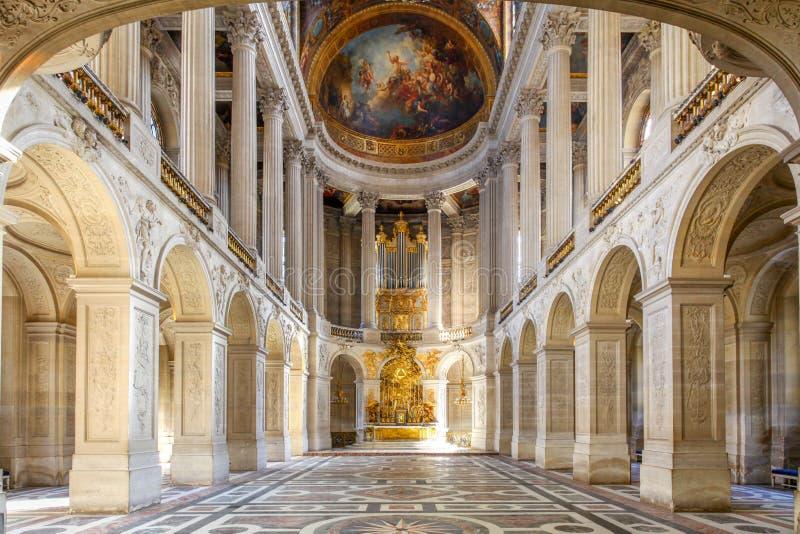 Salón de baile en el palacio de Versalles, París, Francia imágenes de archivo libres de regalías