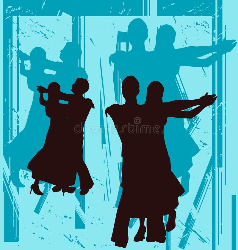 Salón de baile Grunge ilustración del vector