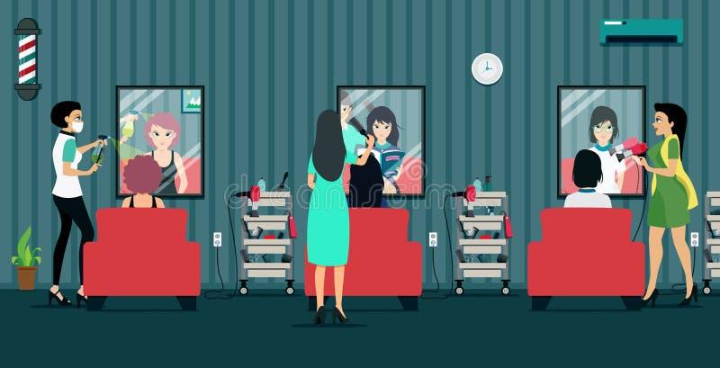 Salón de belleza stock de ilustración