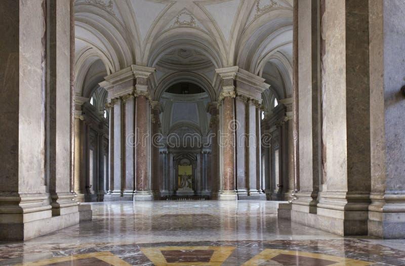 Salón de Caserta Royal Palace fotografía de archivo libre de regalías