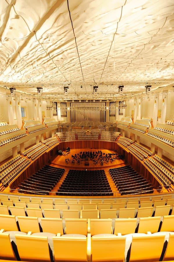 Salón de conciertos del teatro magnífico nacional de China foto de archivo libre de regalías