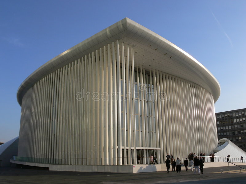 Salón de conciertos Luxemburgo foto de archivo libre de regalías