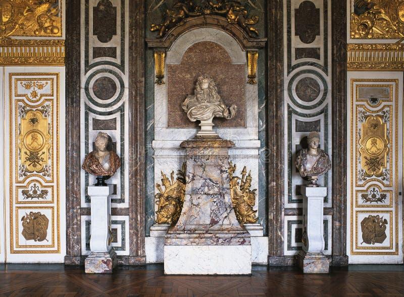 Salón de Dianas en el palacio de Versalles imagen de archivo libre de regalías
