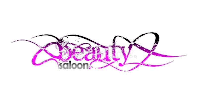 Salón de la belleza e insignia de la manera stock de ilustración