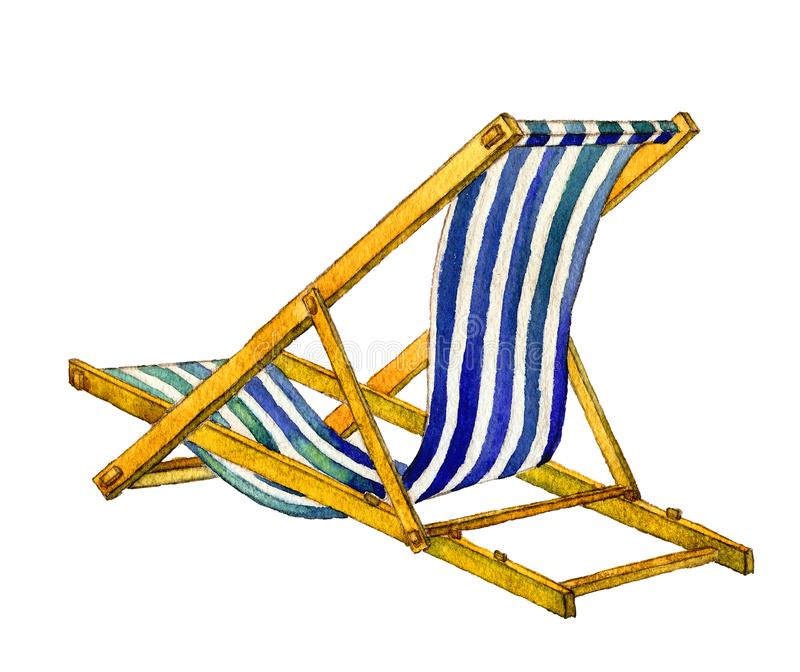 Sal?n de la calesa para relajarse en el mar ilustración del vector