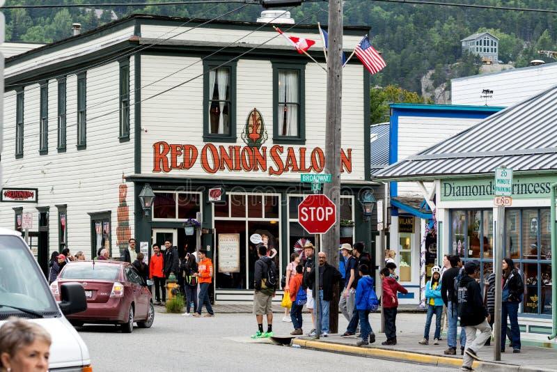 Salón de la cebolla roja, Skagway foto de archivo libre de regalías