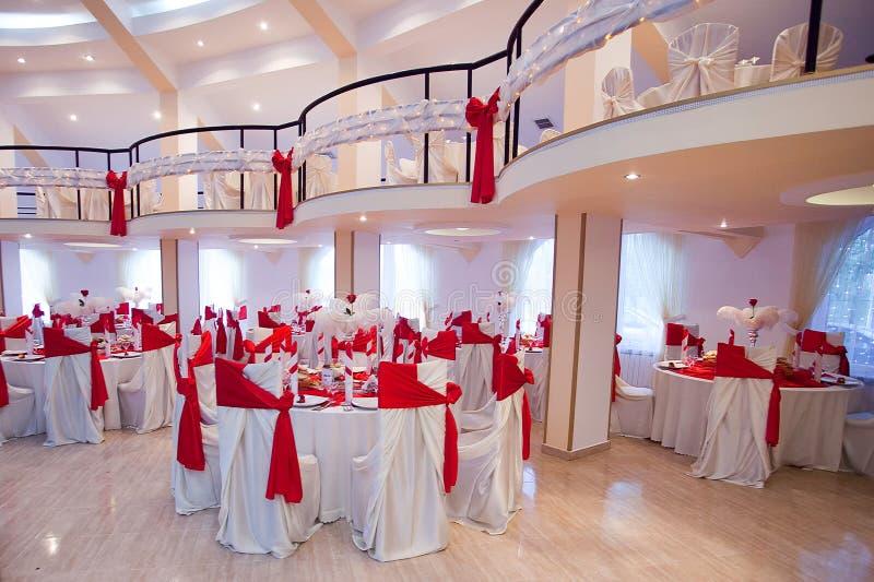 Salón de la ceremonia de boda fotografía de archivo
