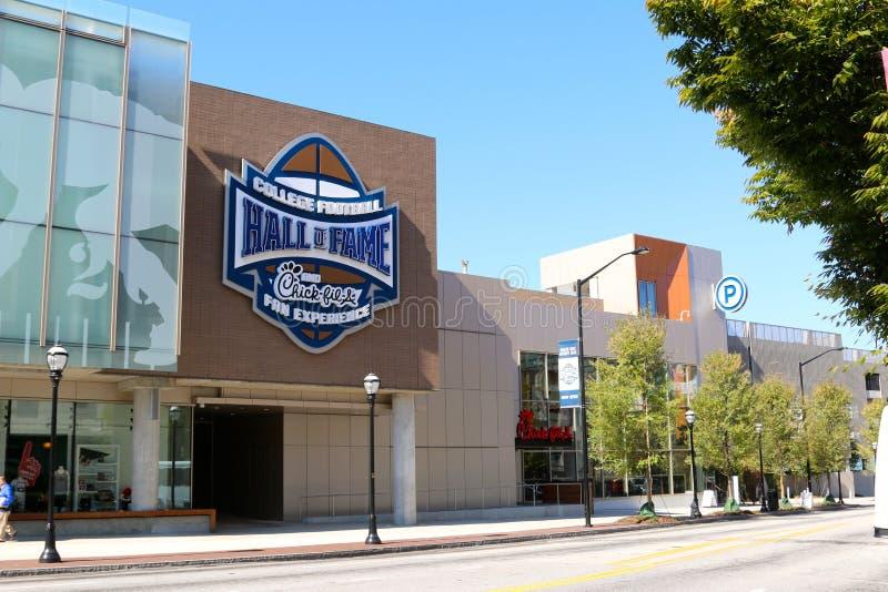 Salón de la fama del fútbol de la universidad que construye Atlanta fotografía de archivo libre de regalías