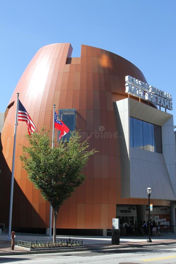 Salón de la fama del fútbol de la universidad fotos de archivo