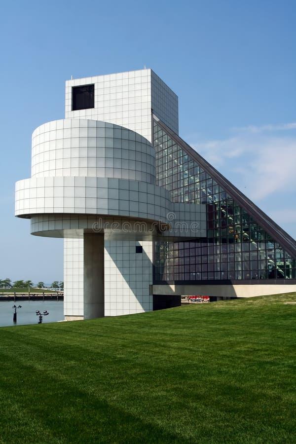 Salón de la fama del rock-and-roll de Cleveland imagen de archivo libre de regalías