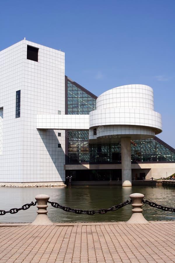 Salón de la fama del rock-and-roll de Cleveland fotos de archivo libres de regalías