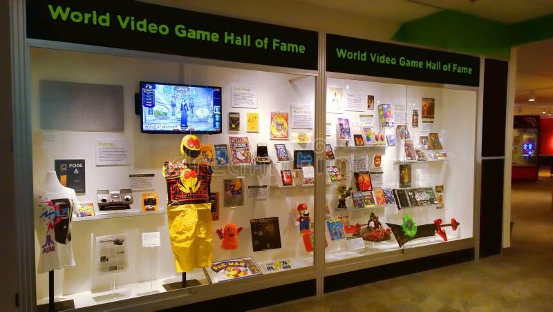 Salón de la fama del videojuego del mundo foto de archivo
