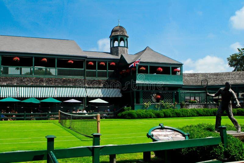 Salón de la fama principal del tenis de corte imagen de archivo