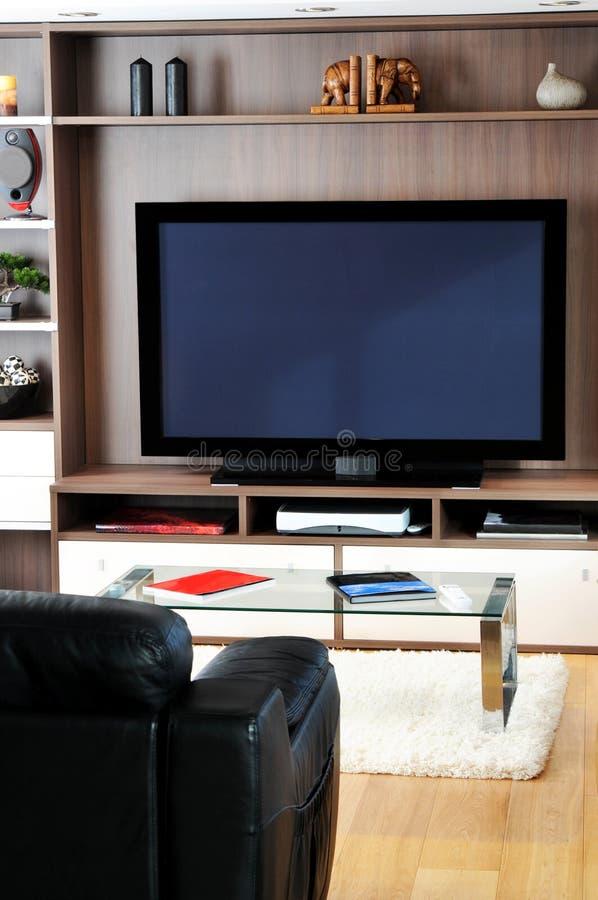 Salón de la TV imágenes de archivo libres de regalías