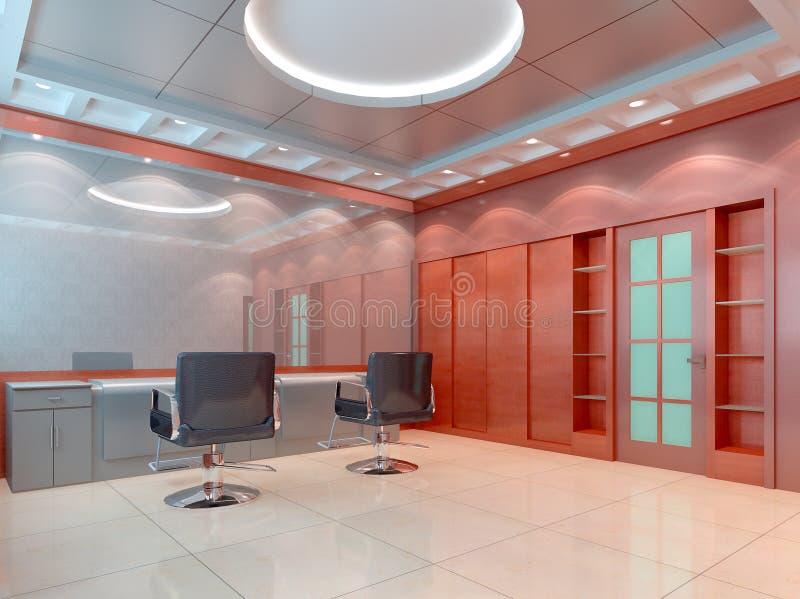 salón de pelo 3D, departamento de peluquero ilustración del vector