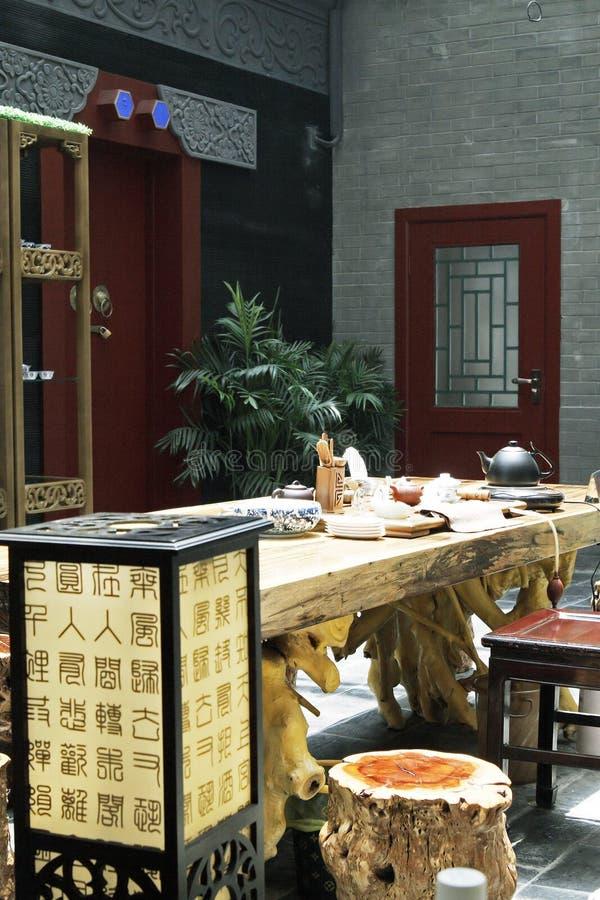 Salón de té antiguo de China. fotos de archivo