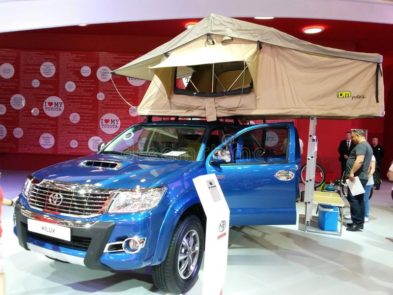 Salón del automóvil 2015 Estambul, pavo fotos de archivo libres de regalías