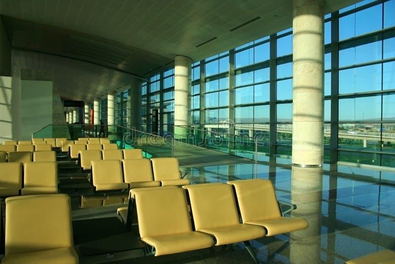 Salón ejecutivo en un aeropuerto imagen de archivo libre de regalías