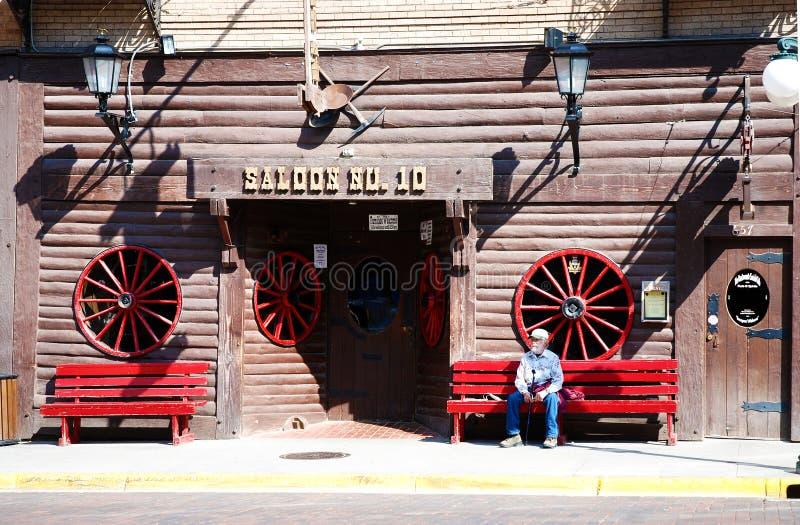 Salón número 10 en la ciudad Deadwood de la fiebre del oro imagen de archivo