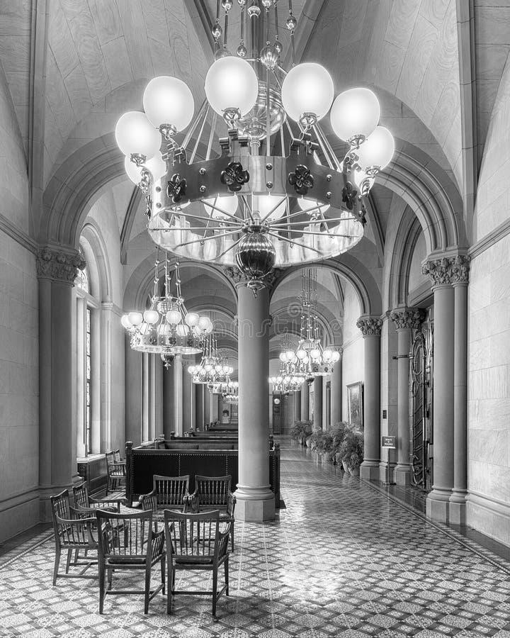Salón y pasillo del senado de Estado de Nueva York fotografía de archivo libre de regalías