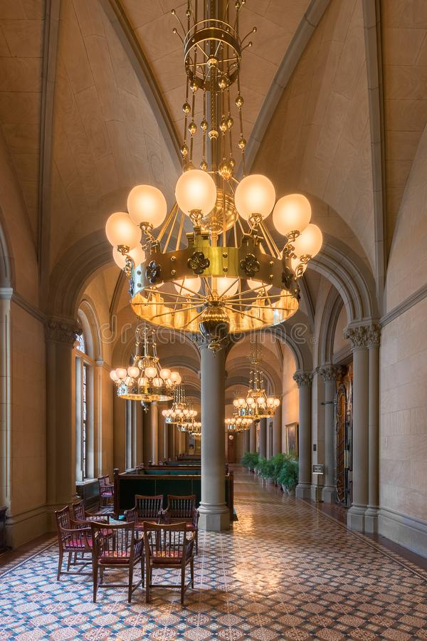 Salón y pasillo del senado de Estado de Nueva York foto de archivo libre de regalías
