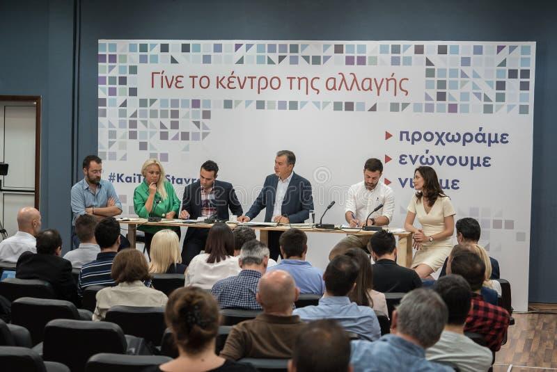 SALÓNICA, GRECIA - 13 DE SEPTIEMBRE DE 2017 Líder griego del polit fotos de archivo libres de regalías