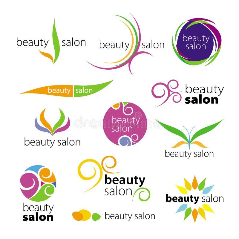 Salões de beleza dos logotipos ilustração do vetor