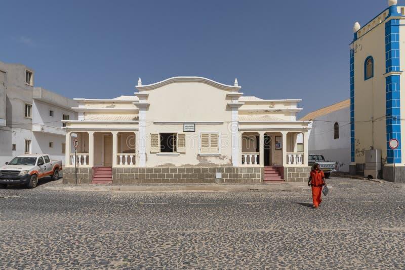 Sal constructiva oficial Rei Cape Verde imagen de archivo libre de regalías