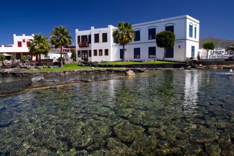 Sal del la de la plaza, Marina Rubicon, Lanzarote imagenes de archivo