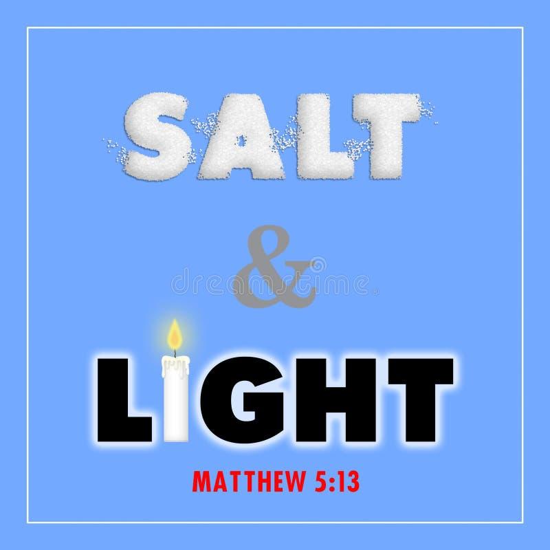 Sal e luz ilustração stock