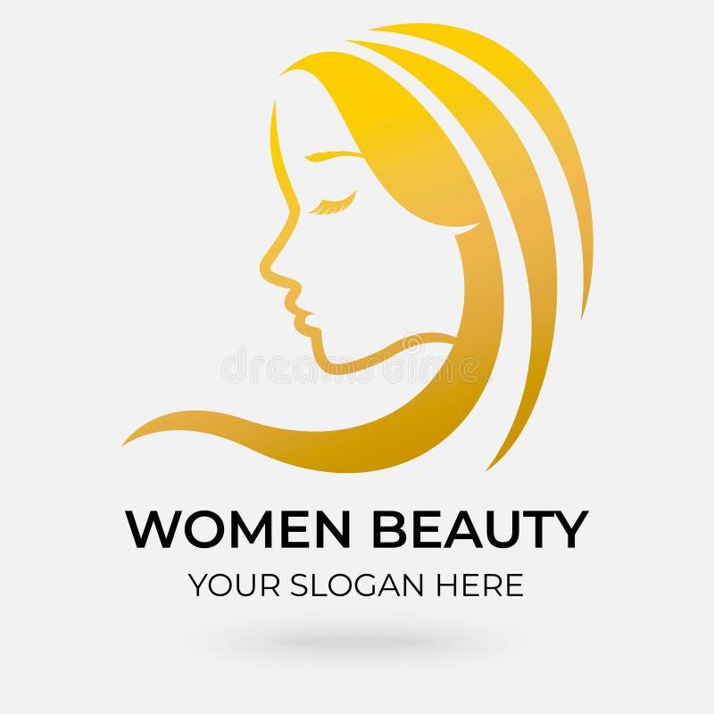 Sal?o de beleza Logo Design ilustração royalty free