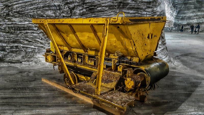 Sal Ocnele Mari de la mina del carro fotos de archivo libres de regalías