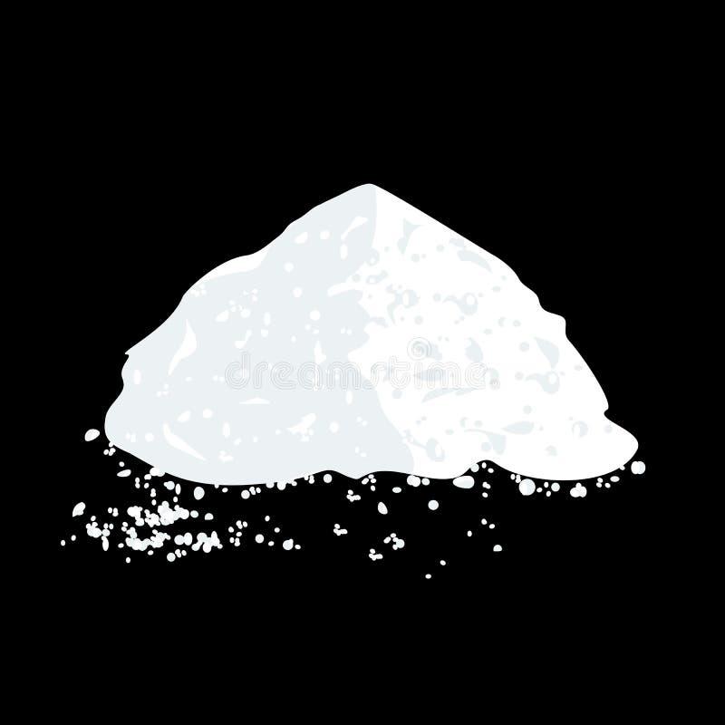 Sal ou Sugar Pile ilustração stock