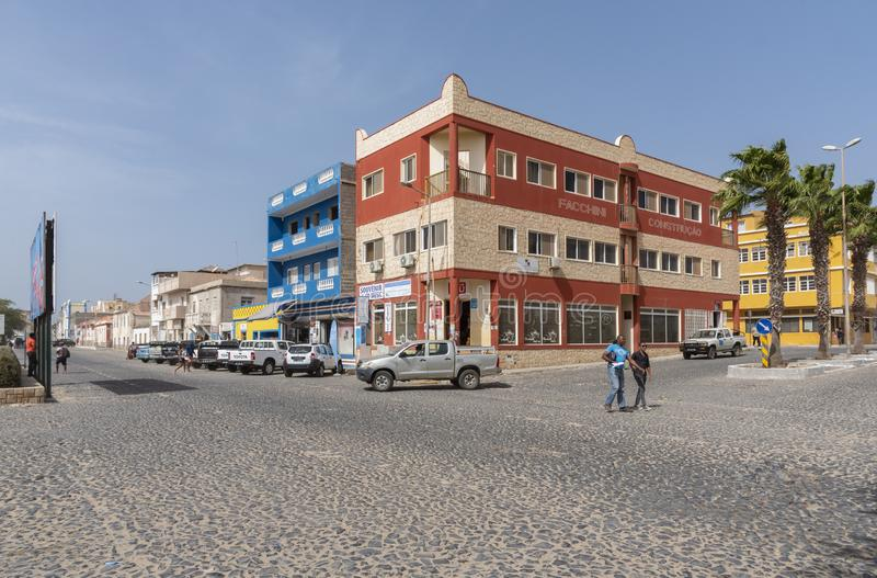 Sal Rei Cape Verde de los cruces fotografía de archivo