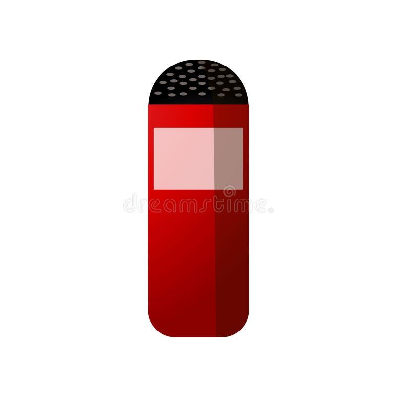 Sal roja de la cocina de la caja para el partido o la comida del Bbq stock de ilustración