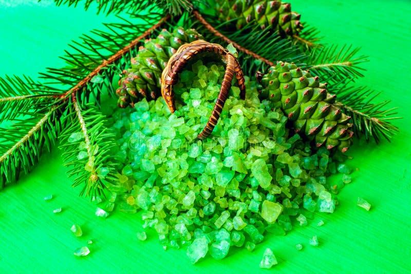Sal verde para aromatherapy fotografía de archivo